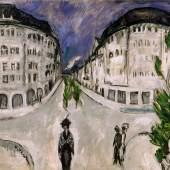 Ernst Ludwig Kirchner Strasse am Stadtpark Schöneberg, 1912/13 Öl auf Leinwand, 121 × 151 cm Milwaukee Art Museum, Gift of Mrs. Harry Lynde Bradley Foto: Larry Sanders