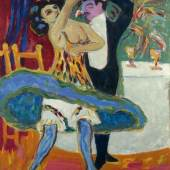 Ernst Ludwig Kirchner (1880-1938) Varieté; Englisches Tanzpaar, 1909/1926 Öl auf Leinwand, 151 x 120 cm Städel Museum, Frankfurt am Main Foto: U. Edelmann - Artothek