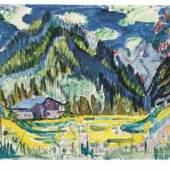 Ernst Ludwig Kirchner (1880-1938) Wildboden, 1924 Aquarell über Bleistift auf gestrichenem Karton, 35,5 x 45,8 cm Städel Museum, Graphische Sammlung, Frankfurt am Main