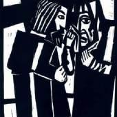 Klaus Schröter ● Jesus begegnet Maria ● Linolschnitt ● 1964