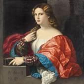 "Palma il Vecchio Portrait einer Frau, genannt ""La Bella"" 1518/20 Madrid, Museo Nacional Thyssen-Bornemisza © Museo Nacional Thyssen-Bornemisza, Madrid"