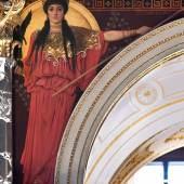 Gustav Klimt Griechische Antike II (Pallas Athene) Zwickelbild an der Nordseite des Stiegenhauses im Kunsthistorischen Museum 1890/91 © KHM-Museumsverband