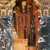 Gustav Klimt Ägypten II Interkolumnium an der Nordseite des Stiegenhauses im Kunsthistorischen Museum 1890/91 © KHM-Museumsverband