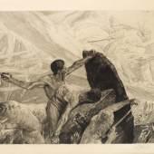 Max Klinger Titanen Opus XII: Brahms-Phantasie, Blatt 20 1894 Druckgrafik Muzeum Mazowiecki w Płocku Foto: Mariusz Młynarkiewicz