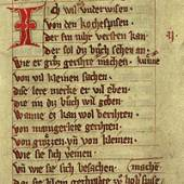 Das Buch von guter Speise aus: UB der Ludwig-Maximilians- Universität München, um 1350  (Cim.4, fol. 156r-165v), Detail © Foto: LMU München