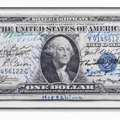 Gert Jan Kocken 1 Dollar Silver Certificate signed by the crew of the B-29 Superfortress Enola Gay  Digitalprint auf Barytpapier 210 x 100 cm