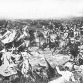 Szene aus der Schlacht von Königgrätz 1866 Fotodruck nach Gemälde