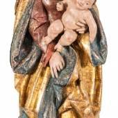 Gotische Madonna Donauschule um 1520 H: 90 cm, Originalfassung © Kössl Kunst & Teppich