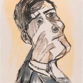 Oskar Kokoschka Selbstbildnis von zwei Seiten, 1923 Kreidelithografie auf Bütten © Museum der Moderne Salzburg © Fondation Oskar Kokoschka © Bildrecht, Wien