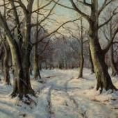 Konstantin Jakowlewitsch Kryschitskij 1858 Kiew - 1911 Sankt Petersburg Winterlicher Wald. Schätzpreis:5.000 - 6.000 EUR