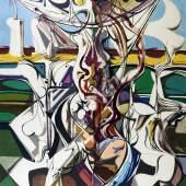 Karl Kunz: Kreuzigung, 1959, Öl auf Hartfaser, 164x123,5 cm , © Von der Heydt - Museum