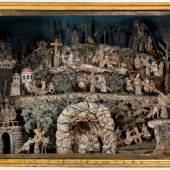 Klosterarbeit, Der Kreuzweg Jesu, süddt., um 1800. Foto: Kunsthandel Pachmann