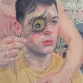 Kris Knight, Droop 2019, Öl auf Leinwand, 45,7 x 35,6 cm