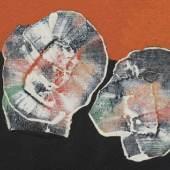 Max Ernst, Quelques fleurs, 1927 (Detail), Öl auf Leinwand, 22,3 x 27,5 cm, Kunstmuseum Bonn, Leihgabe der Professor Dr. med. Wilfried und Gisela Fitting Stiftung