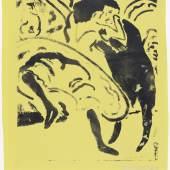 Ernst Ludwig Kirchner, Tanzpaar, 1909, Lithografie auf Papier, 48,5 x 38,4 cm (Blatt) © Buchheim Museum der Phantasie, Bernried am Starnberger See