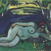 Max Pechstein, Früher Morgen, 1911, Öl auf Leinwand, 75 x 100 cm, Gudrun Selinka, © Max Pechstein, Pechstein Hamburg / Tökendorf, 2021