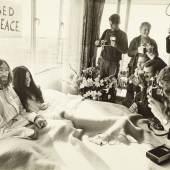 John Lennon / Yoko Ono, Amsterdam Bed-In, 1969, Foto: Ruud Hoff, Courtesy Yoko Ono Lennon