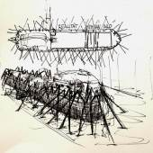 BU: >>Membran<< von den Leerraumpionieren ist ein wid ein genreübergreifendes Ausstellungskonzept für das Kunstschiff ARTE NOAH: (c) Anne StengelKonzept