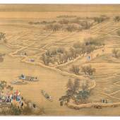 The Kangxi Emperor's Southern Inspection Tour, Section of Scroll VI: From the Town of Benniu to the City of Changzhou on the Grand Canal Estimate $4/6 Million Sold for $9,546,000