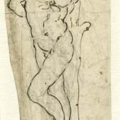 LEONARDO DA VINCI (1452–1519) Hl. Sebastian, um 1478-1483 Legat Georg Ernst Harzen, 1863 © Hamburger Kunsthalle, Kupferstichkabinett / bpk Foto: Christoph Irrgang