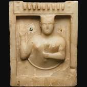 Lot 73 A South Arabian Funerary Stele Representing a Priestess or Goddess, Qatabān, circa late 1st century B.C.