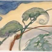"""Emil Nolde """"Chamäleons"""", Aquarell auf Papier, signiert, verso bezeichnet und nummeriert 1923/24, 35,5 x 47,5 cm Foto © Kunsthandel Ladrón de Guevara"""
