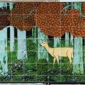 Max Laeuger Reh im Wald Ausführung Tonwerke Kandern, 1900