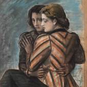 LAOCOON GALLERY, Achille Funi  Ugo and Parisina, 1934  Pastel on mounted paper  93 x 72 cm
