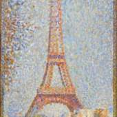 Georges Seurat La Tour Eiffel, ca. 1889 Öl auf Holz, 24,1 x 15,2 cm Fine Arts Museums of San Francisco, Museum purchase, William H. Noble Bequest Fund