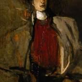 Sir John Lavery Portrait de femme au chapeau oil on panel Estimate £7,000-10,000