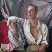 Bagshawe Fine Art  Exhibition title: TBC Serge Ivanoff (1893-1983) Portrait of Jacques Fath oil on canvas 130 x 89 cm