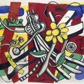 Fernand Léger, La fleur jaune, 1944 Öl auf Leinwand, 74 x 91,5 cm Kunsthaus Zürich, Geschenk in memoriam C. und S. Giedion-Welcker, 1982, © 2019 ProLitteris, Zürich