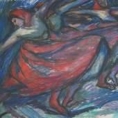 """Vilma Eckl (Enns 1892 - Linz 1982 ) """"Ungarischer Tanz"""" (Galerie Lehner)"""