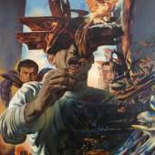 """Fritz Aigner (geb. 1930) """"Ein Sentimentaler Trottel"""" Öl auf Leinwand, 1962 180 x 106 cm  Zur Verfügung gestellt von: Galerie Lehner"""
