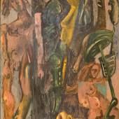 """Markus Lüpertz (geb. 1941) """"Gefahren der Pubertät"""" Öl auf Leinwand, 1980 250 x 200 cm Foto: © Galerie Lehner"""