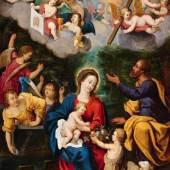 Lot 5  Pieter van Avont Heilige Familie mit dem Heiligen Johannes und ...   Schätzpreis: € 9.000 - € 10.000
