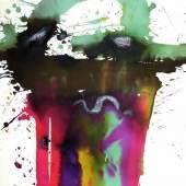 """Markus Prachensky (Innsbruck 1932 – 2011 Wien) """"Etruria"""" 1980 Tusche/Bütten, 76 x 56 cm   Zur Verfügung gestellt von: Galerie Leonhard"""