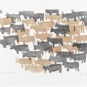 """Den Titel """"Herde"""" trägt dieser Holzschnitt aus dem Jahr 1967. (Copyright: Günter König)"""
