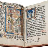 """Les Enluminures Noted Missal (the """"Soissons Missal"""")  In Latin, illuminated manuscript on parchment Northeastern France (Diocese of Soissons), c. 1250-75 With 1 full-page miniature and 22 large historiated initials by the Vincent Master (active Northeast France, c. 1260-90)"""