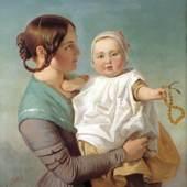 Emanuel Gottlieb Leutze (1816 – 1868), Die Bernsteinkette, 1847, Öl auf Leinwand, 91 x 77 cm, Museum und Galerie im Prediger Schwäbisch Gmünd