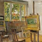 Max Liebermann (1847-1935), Das Atelier in Wannsee, 1932 Öl auf Leinwand, 40 x 50,4 cm © Privatbesitz, Photo: Elke Walford, Hamburg
