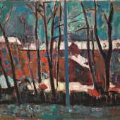 Carl Walter Liner: Hottingerstrasse im Winter, 1944.Kulturstiftung Heinrich Gebert, Appenzell.