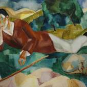 Hermann Lismann: Wanderer, 1920 Öl auf Pappe, 70,3 x 99,4 cm Bez. r. u.: H Lismann 9.20. Kunsthandel Widder, Wien Foto: Uwe Dettmar, Frankfurt a. M.