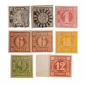 Württemberg - 1851/1920, umfassende Sa... interessanten Varianten und Typen, beginnend mit zweimal 1 Kreuzer 1851, die 18 Kreuzer Marke der er...  Startpreis 4.100 EUR