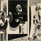 Arshile Gorky, Untitled, 1931–1933 Tusche auf Papier, 64,8 x 92,7 cm Sammlung Hubert Looser