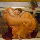 FREDERIC LEIGHTON FLAMING JUNE, 1895 Ö L AUF LEINWAND 119,1 X 119,1 CM COLLECTION MUSEO DE ARTE DE PONCE. THE LUIS A. FERRÉ FOUNDATION, INC., PONCE, PUERTO RICO. FOTO : JOHN BETANCOURT
