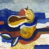 Scharl, Josef.  1896 München - New York 1954 Obststillleben. Gouache. Sign. und dat. 1940. 24,5 x 32 cm. Aufrufpreis:6.000 EUR