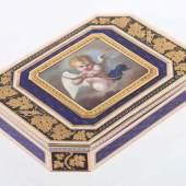 Golddose mit Amor wohl Frankreich, Ende 18. Jh... Mindestpreis:5.000 EUR