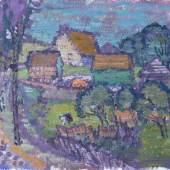 """Manigk, Otto (1902 Breslau – 1972 Ückeritz)  """"Gehöft am Dorfrand (Pudagla)"""", Aufrufpreis:7.500 EUR"""