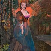 Ernst Fuchs * Lady Gainsborough, 1990 Öl auf Leinwand; gerahmt; 81 × 64,5 cm, Schätzpreis:15.000 - 30.000 EUR